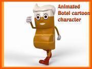 cartoon botal 3d model
