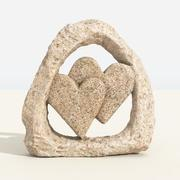Talla de corazones modelo 3d