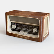 올드 라디오 3d model