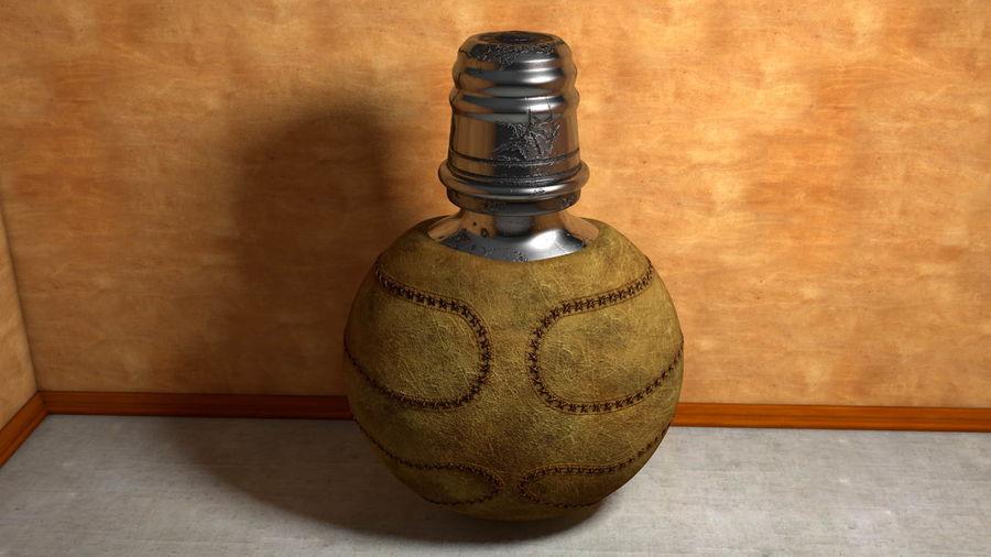 Vintage çizik yıpranmış metal içme şişe deri royalty-free 3d model - Preview no. 1