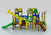 Plac zabaw w dżungli 3d model