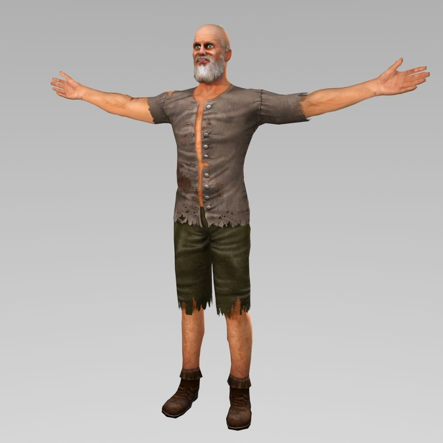Penner Charakter royalty-free 3d model - Preview no. 1
