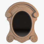 Salvaged Mansard Scroll Mirror 3d model