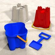 Sand Castle and bucket 3d model
