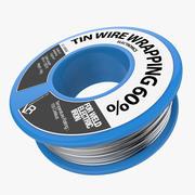 Envoltura de alambre de estaño modelo 3d