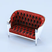 Sofá de couro clássico 3d model