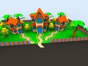 Dom z kreskówek 3d model