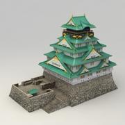 Замок в осаке 3d model
