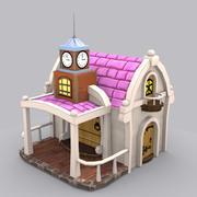 Düşük Poli stilize ev 3d model