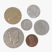 Monety amerykańskie 3d model