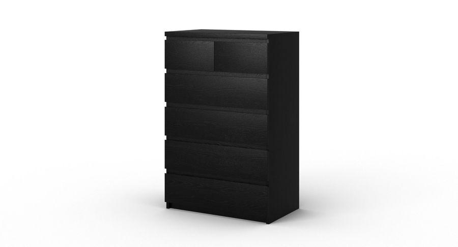 Zestaw szuflad Ikea Malm royalty-free 3d model - Preview no. 35
