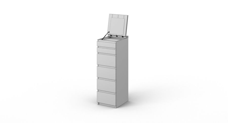Zestaw szuflad Ikea Malm royalty-free 3d model - Preview no. 58