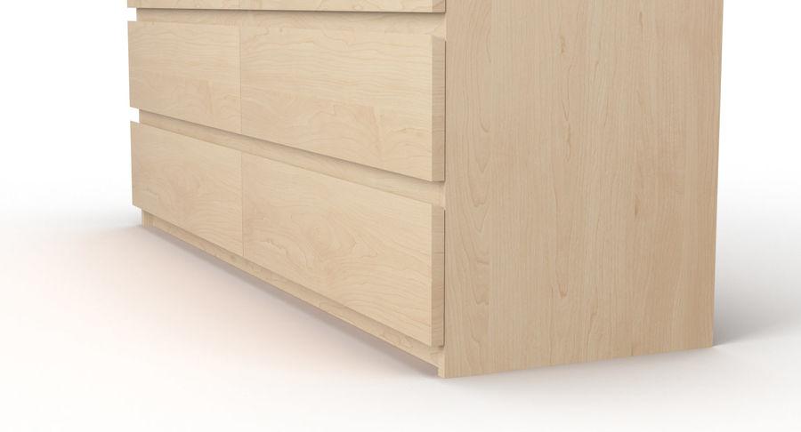 Zestaw szuflad Ikea Malm royalty-free 3d model - Preview no. 70