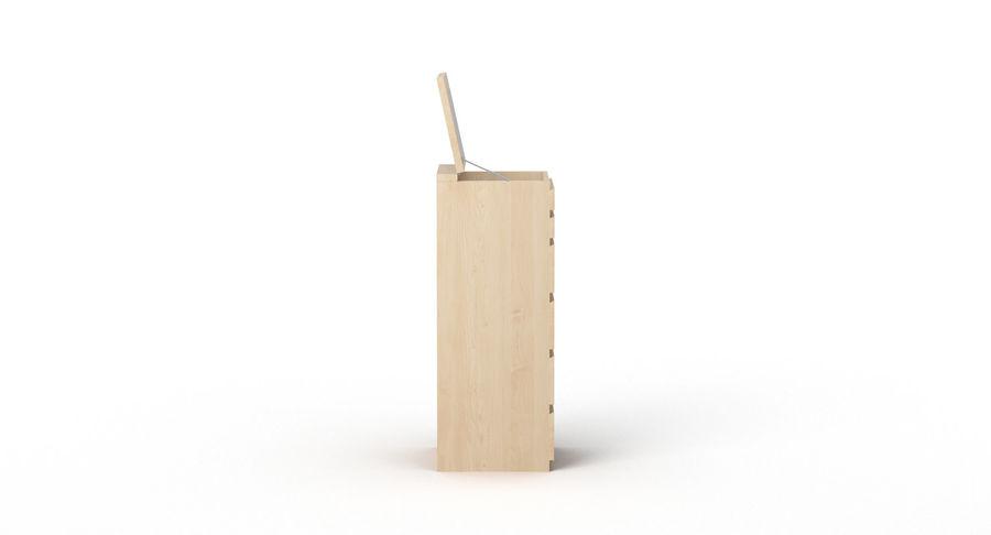 Zestaw szuflad Ikea Malm royalty-free 3d model - Preview no. 53