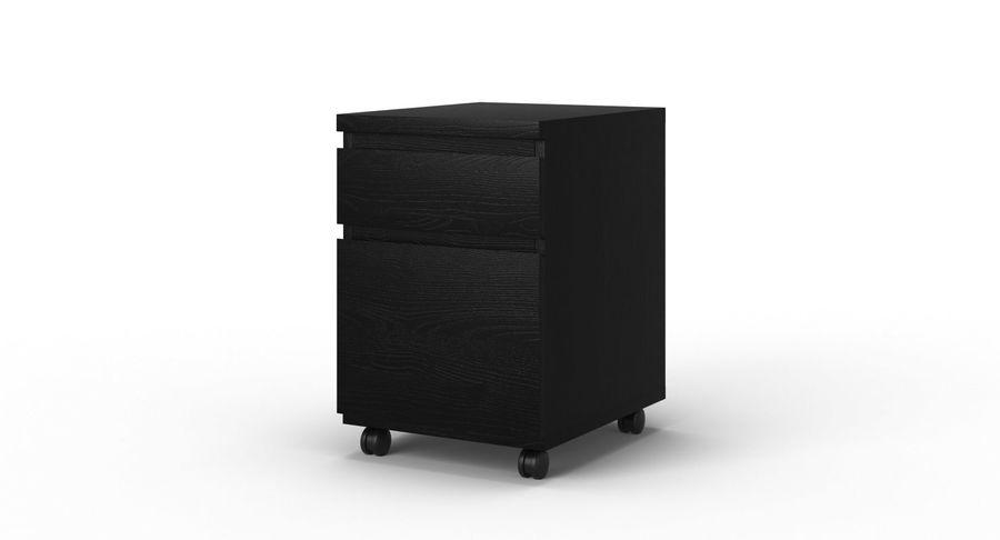 Zestaw szuflad Ikea Malm royalty-free 3d model - Preview no. 90
