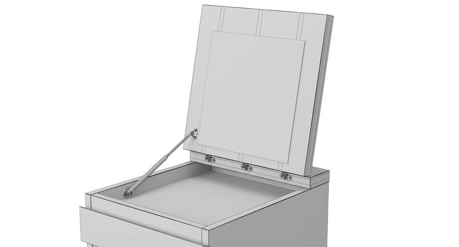 Zestaw szuflad Ikea Malm royalty-free 3d model - Preview no. 60