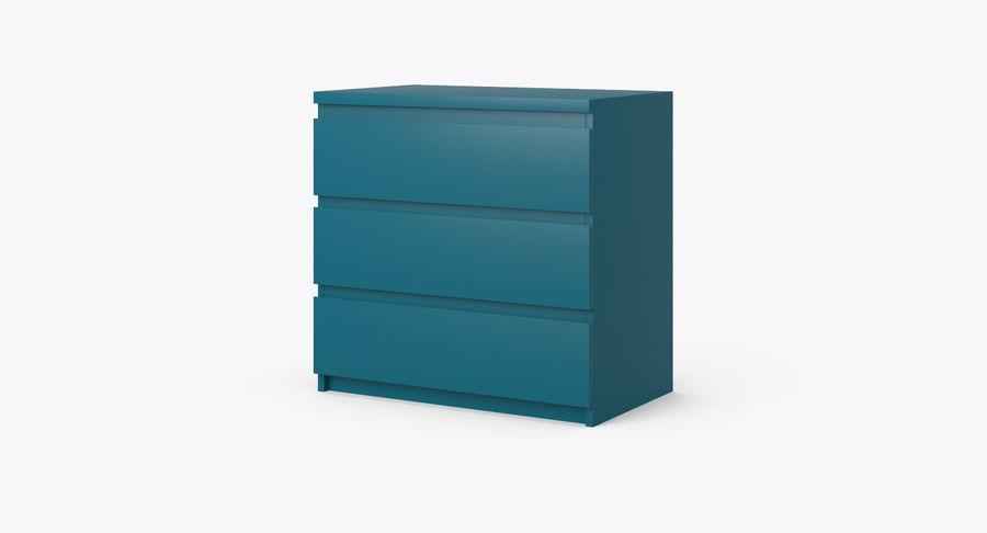 Zestaw szuflad Ikea Malm royalty-free 3d model - Preview no. 10