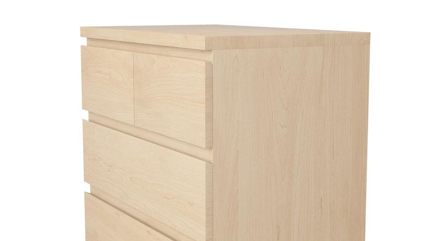 Zestaw szuflad Ikea Malm royalty-free 3d model - Preview no. 43