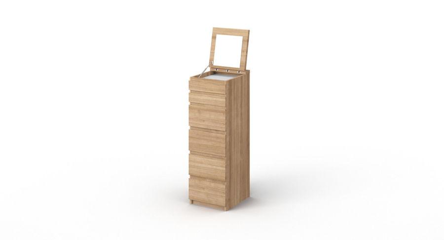 Zestaw szuflad Ikea Malm royalty-free 3d model - Preview no. 50