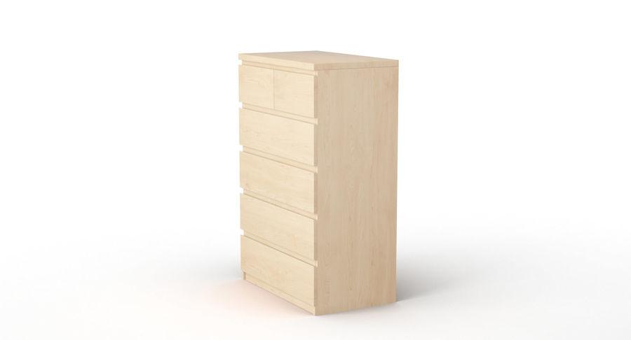 Zestaw szuflad Ikea Malm royalty-free 3d model - Preview no. 41