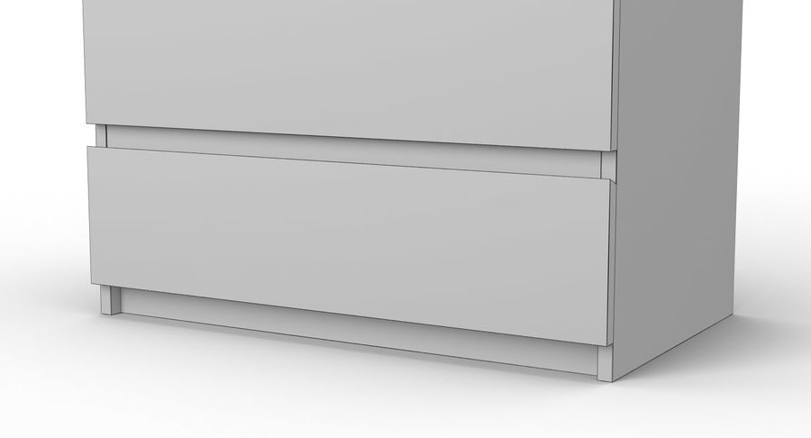 Zestaw szuflad Ikea Malm royalty-free 3d model - Preview no. 32