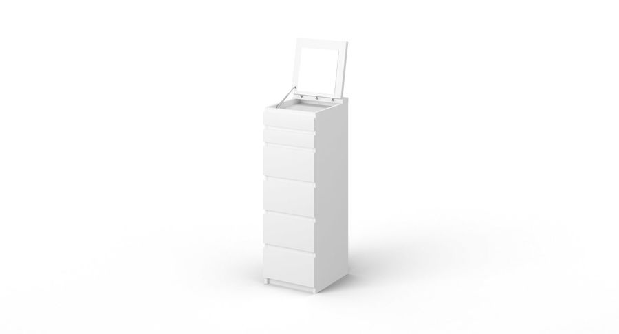 Zestaw szuflad Ikea Malm royalty-free 3d model - Preview no. 49