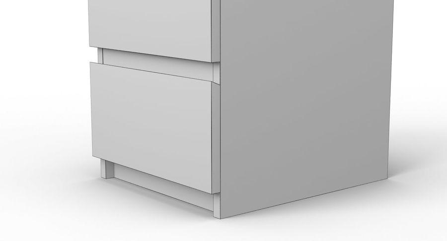 Zestaw szuflad Ikea Malm royalty-free 3d model - Preview no. 88