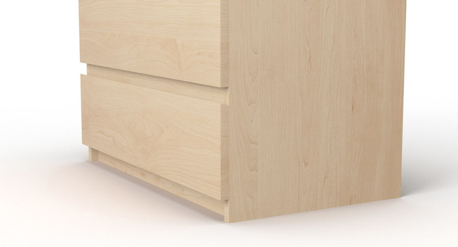 Zestaw szuflad Ikea Malm royalty-free 3d model - Preview no. 17