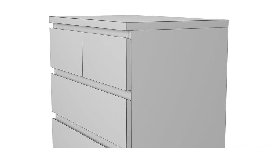 Zestaw szuflad Ikea Malm royalty-free 3d model - Preview no. 46