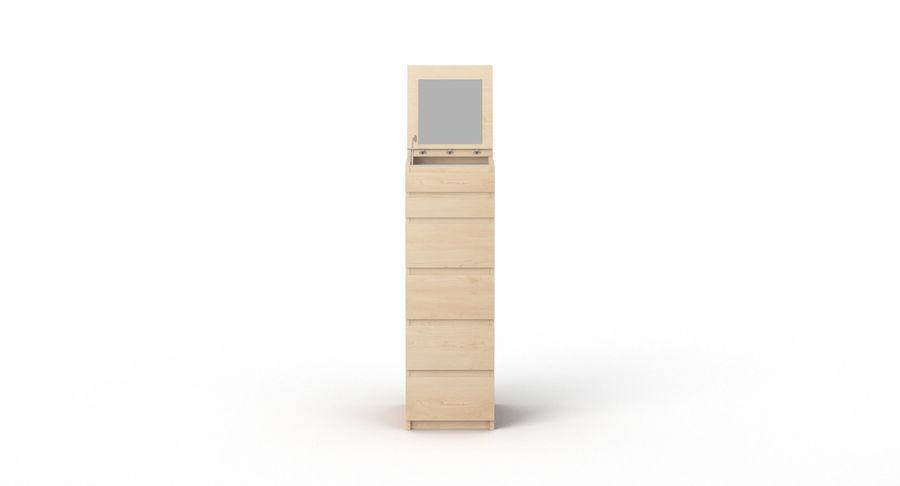 Zestaw szuflad Ikea Malm royalty-free 3d model - Preview no. 51