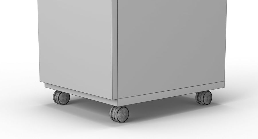 Zestaw szuflad Ikea Malm royalty-free 3d model - Preview no. 100