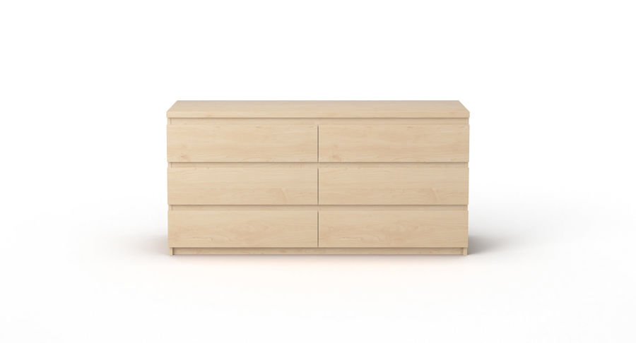 Zestaw szuflad Ikea Malm royalty-free 3d model - Preview no. 66