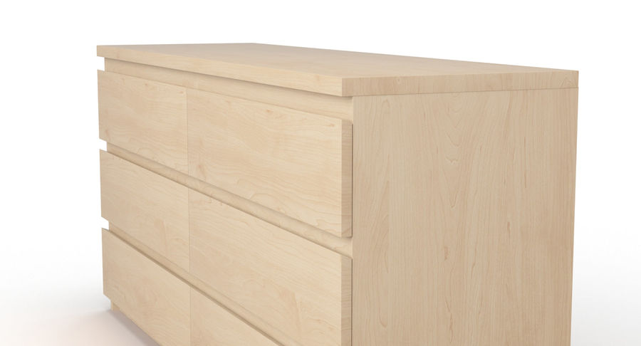 Zestaw szuflad Ikea Malm royalty-free 3d model - Preview no. 71
