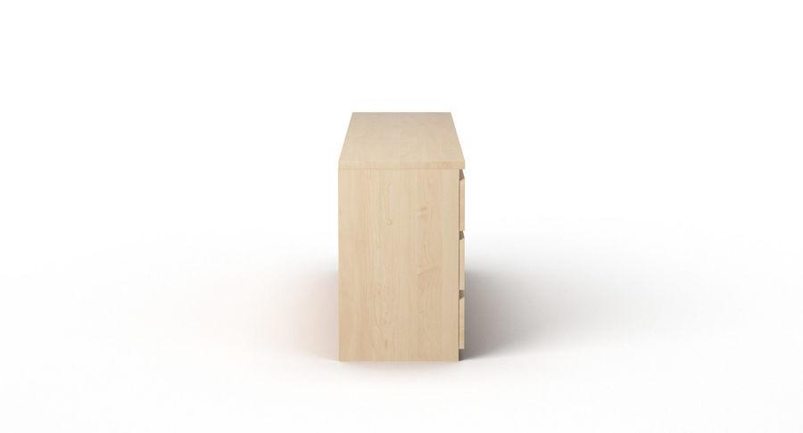 Zestaw szuflad Ikea Malm royalty-free 3d model - Preview no. 68