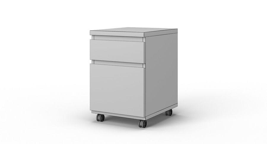 Zestaw szuflad Ikea Malm royalty-free 3d model - Preview no. 98
