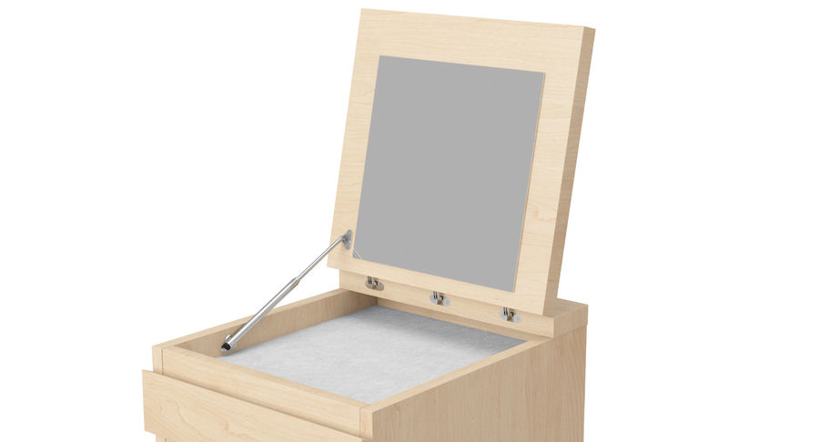 Zestaw szuflad Ikea Malm royalty-free 3d model - Preview no. 57