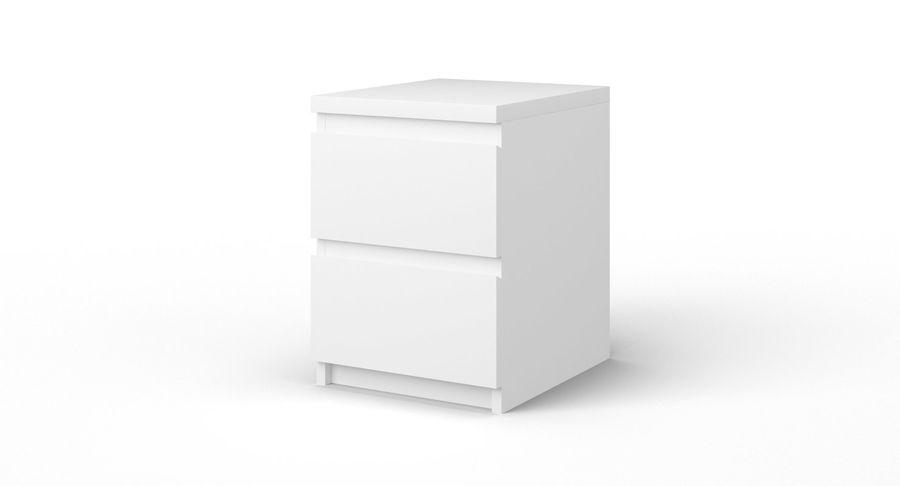 Zestaw szuflad Ikea Malm royalty-free 3d model - Preview no. 77