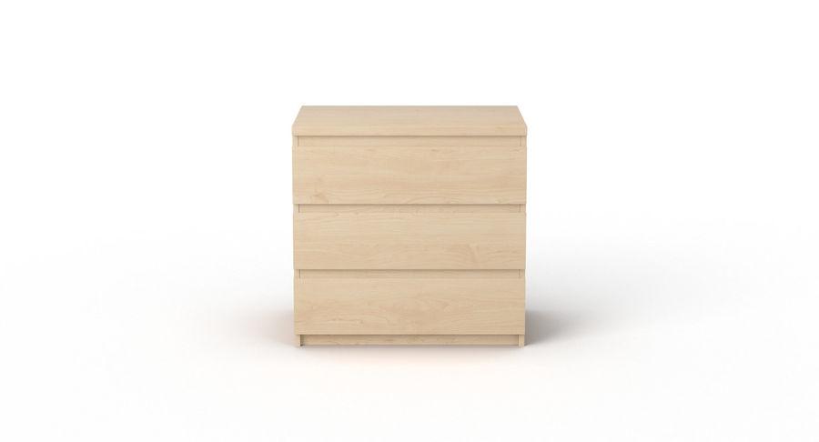 Zestaw szuflad Ikea Malm royalty-free 3d model - Preview no. 12