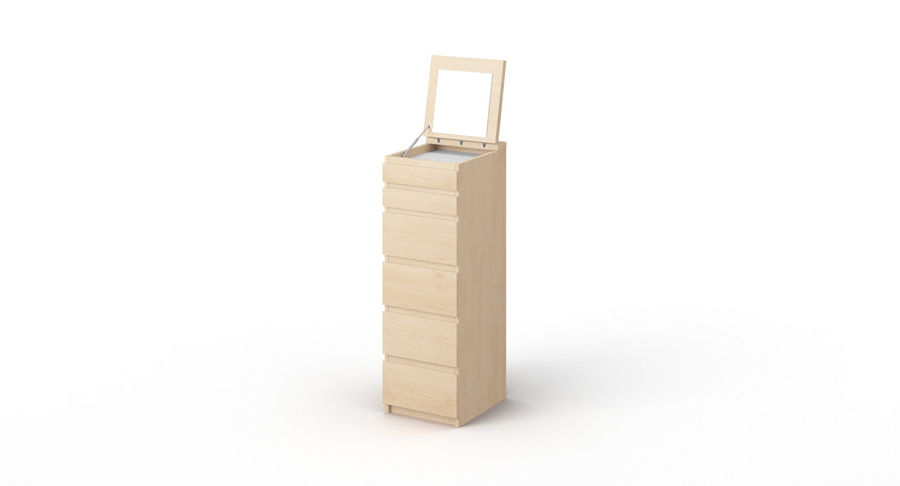 Zestaw szuflad Ikea Malm royalty-free 3d model - Preview no. 47