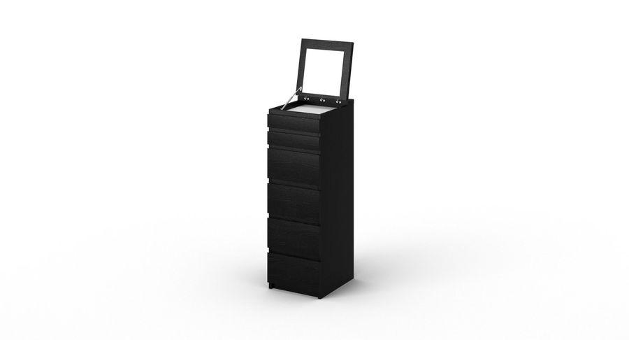 Zestaw szuflad Ikea Malm royalty-free 3d model - Preview no. 48