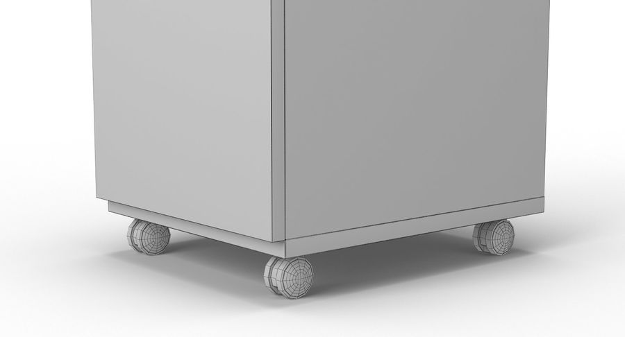 Zestaw szuflad Ikea Malm royalty-free 3d model - Preview no. 99