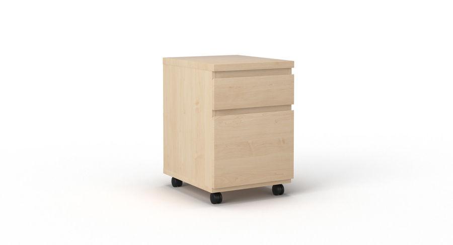 Zestaw szuflad Ikea Malm royalty-free 3d model - Preview no. 93