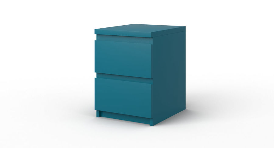Zestaw szuflad Ikea Malm royalty-free 3d model - Preview no. 79