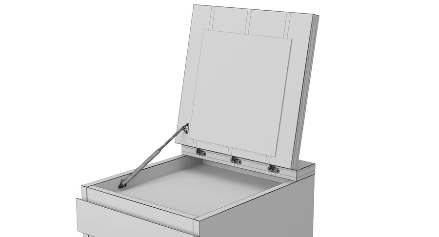 Zestaw szuflad Ikea Malm royalty-free 3d model - Preview no. 61