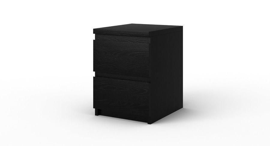 Zestaw szuflad Ikea Malm royalty-free 3d model - Preview no. 76