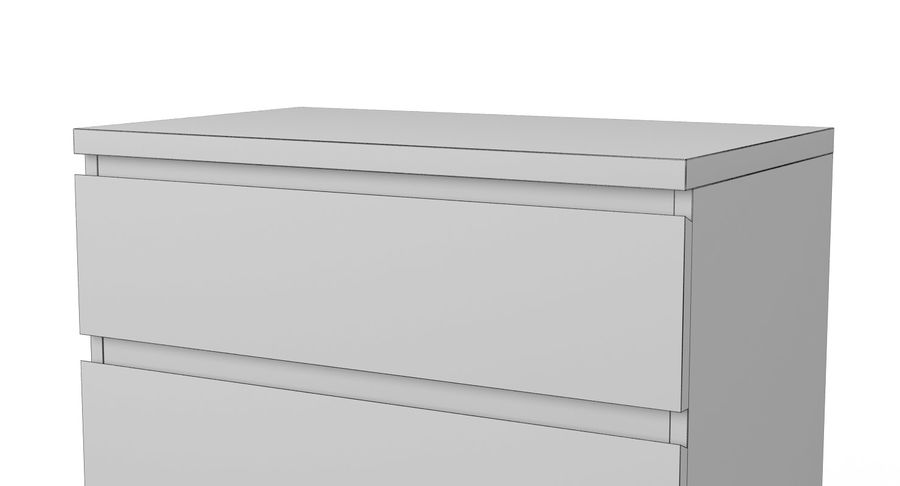 Zestaw szuflad Ikea Malm royalty-free 3d model - Preview no. 33
