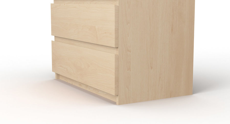 Zestaw szuflad Ikea Malm royalty-free 3d model - Preview no. 42
