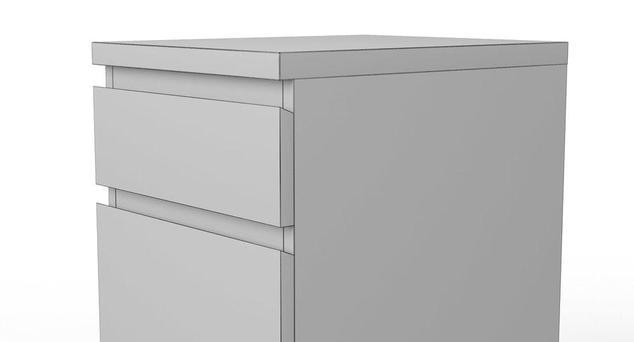 Zestaw szuflad Ikea Malm royalty-free 3d model - Preview no. 101
