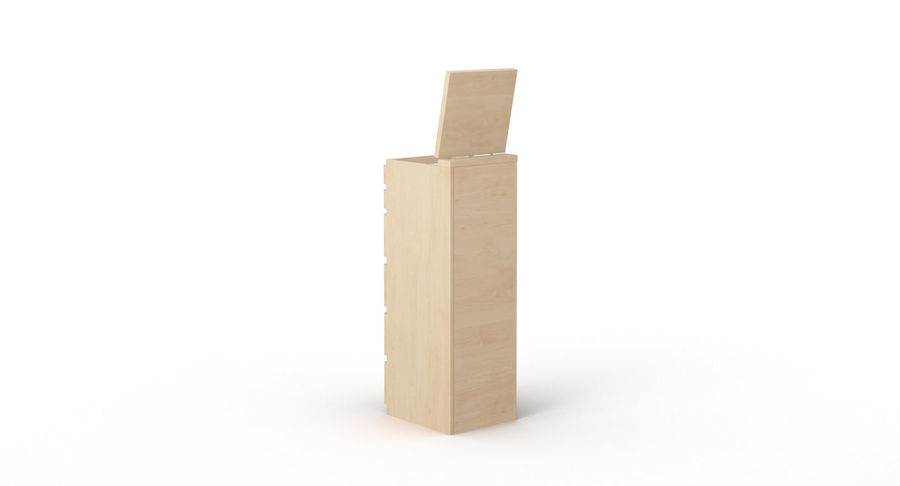 Zestaw szuflad Ikea Malm royalty-free 3d model - Preview no. 54