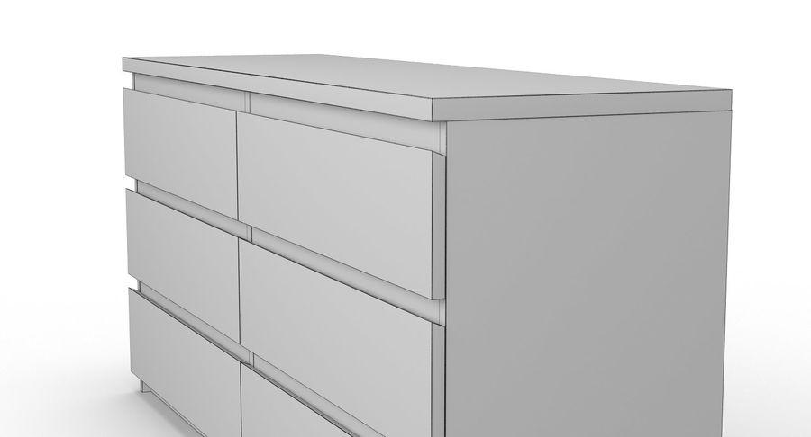 Zestaw szuflad Ikea Malm royalty-free 3d model - Preview no. 74